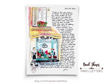 Paris Book Shops: Paris Letters, June, A letter about wandering into the old bookshops of Paris and perusing even if you can't read anything
