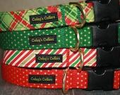 """Dog Collar """"Christmas 2016 Christmas Party Collection"""" Christmas Dog Collars"""