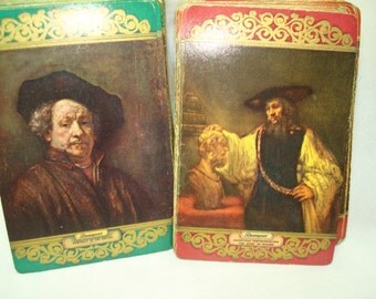 1950s Duration Plastic Playing Cards Rembrandt's Portrait of the artist and Aristotle Contemplating The Bust of Homer