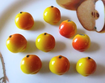 Antique Czech's Buttons, Realistic Glass Buttons, Peaches, Circa 1930's,  Button Jewelry, Rare,  Realistic Fruit Glass Button
