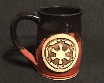 Star Wars, Empire symbol inspired mug, 12 ounces, black over red