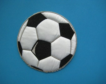 Iron-on embroidered Patch Soccer Ball 3.5 inch