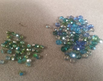 PRETTY !!! Crystals ! Blues Greens !