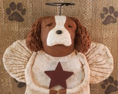 CAVALIER KING Charles Spaniel Angel, OOAK, handmade from paper mache, King Cavalier