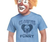clown shirt funny circus shirts scary clowns big top humor humorous carnival t-shirt gifts for carnies husband gift boyfriend large xl 2x 3x