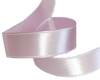 "5/8"" New Orleans Violet Silk Satin Ribbon, 1920's Vintage Ribbon, Single Face Satin Ribbon"