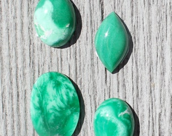 You pick - Lucine Variscite Cabochon from Utah, high grade gem material directly from the mine - oval, ring stone, collector, apple green