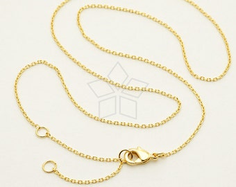 Made to Order / CH-125-GD / 100 Pcs - Ultra Fine Jewelry Chain Necklace, 230-4DC, 16K Gold ...