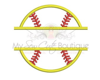 Split Applique Softball Design - 8 sizes - Instant Download
