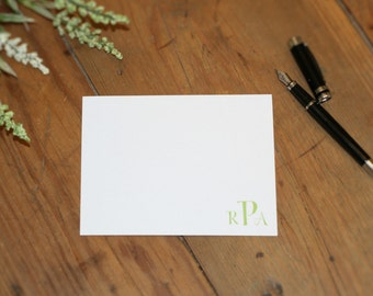 Monogrammed Flat Note Cards
