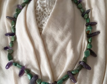 Turq and amethyst necklace