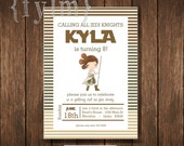 STAR WARS Rey Party Printable Invitations - I design - YOU Print - Rey - jedi - knight - darth - yoda