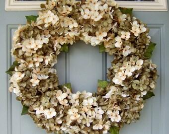 Summer Wreath - Summer Hydrangea Wreath - Summer Door Wreath