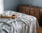 Linen Summer Cover, Sheet & Blanket, Linen Bedding, Bed Cover, Natural Linen Blanket