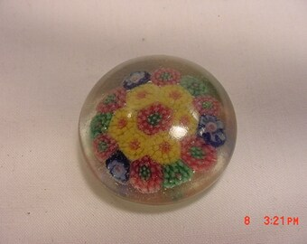 Vintage Canes Glass Handblown Miniature Millifiori Paper Weight  16 - 186
