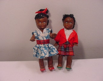 Vintage American Indian Dolls In Acrylic Showcase  15 - 101