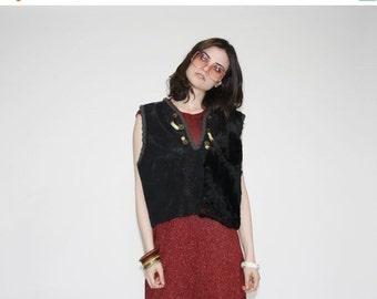 75% OFF FINAL SALE - Vintage 60s Hippie Vest- 1960s Hippie Vests-  The Feel it in my Bones Vest - Wo0167