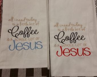 Coffee-Jesus Towel