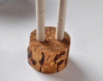 rustic birch branch guest book wedding pen holder
