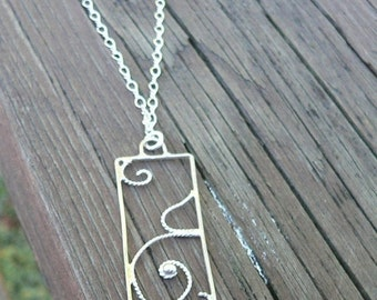 Curls of Love.  A Pregnancy\/Birth Pendant.  Hand-forged sterling silver.