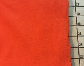 """Orange French Terry Cotton Fabric 2 Yards x 60"""" Wide #3939"""