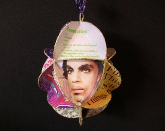 Prince Album Cover Ornament Made From Record Jackets - Singer Prince Rogers Nelson