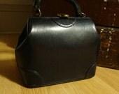 Sweet 1940s Leather Miniature Doctor's Satchel Handbag Purse