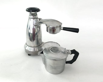 Vesuviana ESPRESSO Electric Atomic-Era VINTAGE Aluminum Coffee Maker ITALY 6 cup