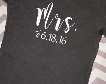 Mrs. Established bridal shower gift