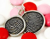 Custom Valentine's Day Necklaces with Personalized Fingerprint Medallions for Him and Her- Valentines Day Gifts