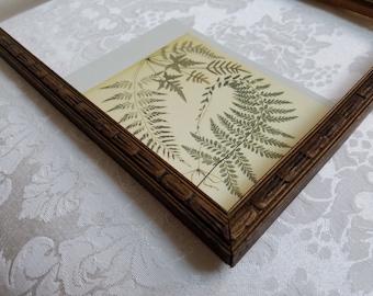 Vintage Gold Picture Frame Embossed Wood 9 x 13 Art Deco, Art Supplies, Sleek Minimalist