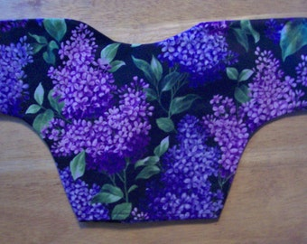 Pink Lavender Blossoms Thyroid Shield Cover