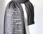 Banned Book Scarf, Gift for Reader, Long Book Scarf