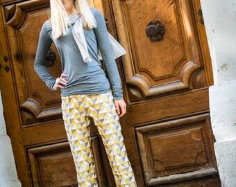 pantalon cigarette femme - plis devant cousus
