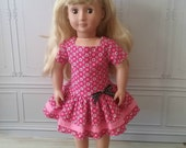 "18"" Doll Dress , American Girl (AG) Dress, 3-Tiered Drop Waisted Dress for 18"" Dolls"