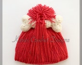 Pebbles Flintstone Handmade Crochet Hat Beanie
