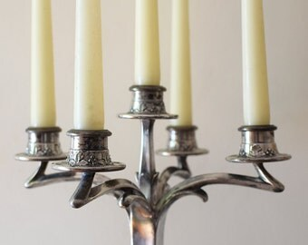 Vintage Silver Candelabra Art Nouveau E. G. Webster Silverplate