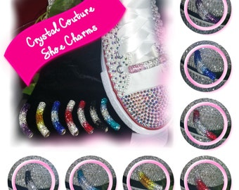 SHOE CHARM Bar With White Satin Laces