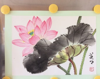 Original Chinese Painting-Flower(Lotus)
