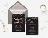 Bachelorette Party Invitation - Weekend bachelorette Invitation - Bachelorette Itinerary Invitation - Wedding Shower Invitation