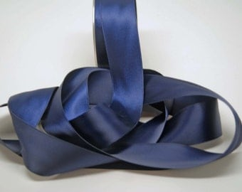 Double Faced Satin Ribbon -- 1.5 inches -- Navy Blue