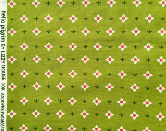 Hello Pilgrim Lizzy House Spring Meadow green Andover fabric FQ or more