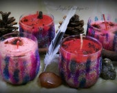 Small Dragons Blood and Wine, Blood Magick, Protection & Power Ritual Candle
