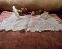 Antique Lace Collar Edwardian Dress Batiste Fabric Craft Supply
