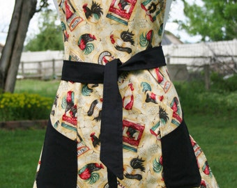Misses Rooster Reversible Full Coverage Apron