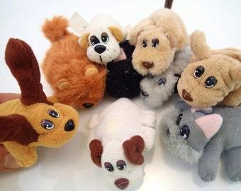 Galoob Pound Puppies Puppy Dog Lot of 10 Mini Plush Specialty Rare Chow Chow Scottish Terrier Vintage Miniature Mini Tiny Farm Animal 90s