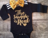 The snuggle is real baby bodysuit Glitter Girls Bodysuit infant shirt baby shower gift glitter girls fashion shirt new mom gift take home