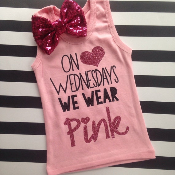 Mean Girls Quotes On Wednesdays We Wear Pink: On Wednesdays We Wear Pink Shirt Girl's Tank Top Shirt