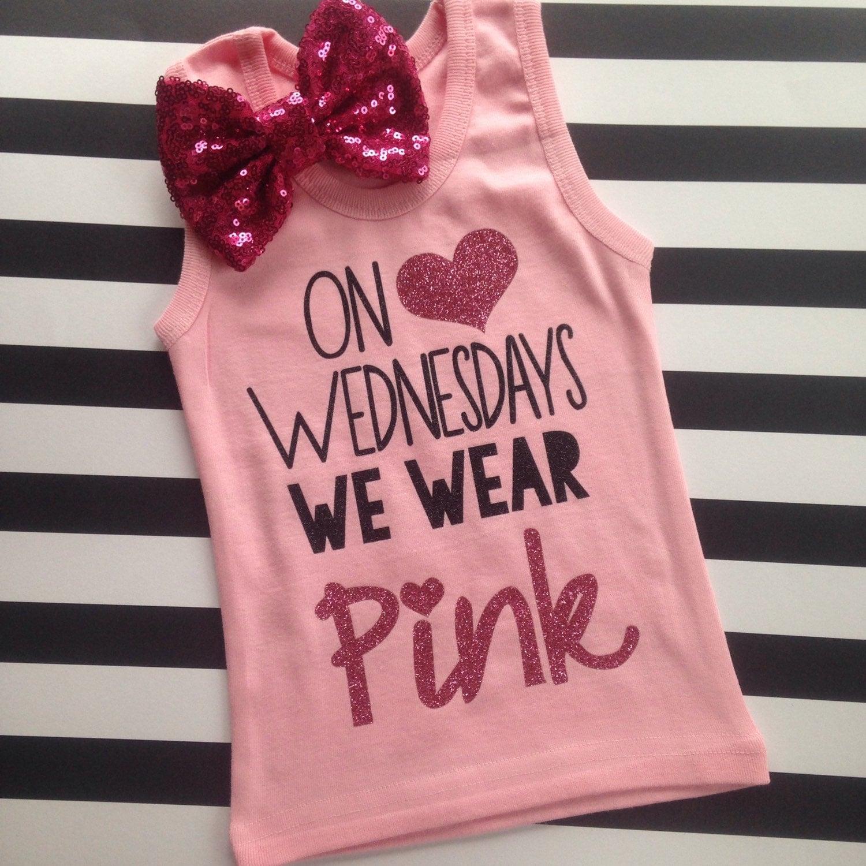 On Wednesdays We Wear Pink Shirt Girl's Tank Top Shirt