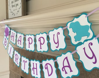 Little Mermaid Birthday Banner - Ariel Party Decorations - Little Mermaid - Ariel Birthday Banner - Under the Sea Banner - Mermaid Party